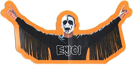 Enjoi Satan-ish Skateboard Sticker evil devil worship 666 pentagram bmx surf sk8