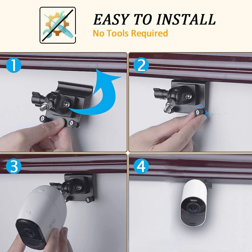 Siding Clips Haken ohne Loch f/ür Arlo Pro Pro 2 Pro 3 Arlo Ultra Arlo HD Arlo GO HOLACA Siding Screws Hanger Wall Mount for Arlo Pro 2 Security Camera