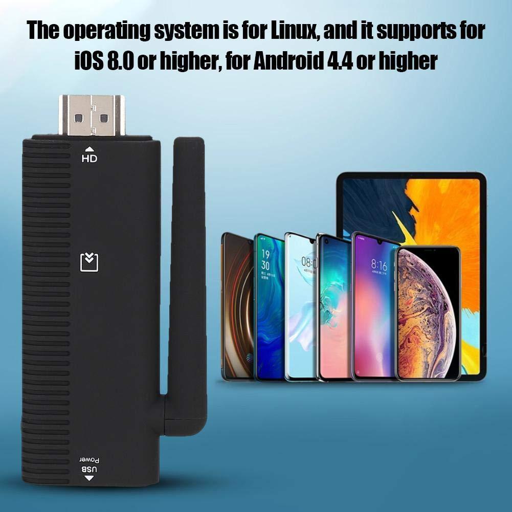 Kafuty Adaptador HDMI WiFi Adaptador de Pantalla Inal/ámbrico Tel/éfono M/óvil Tableta Video Audio al Proyector de Pantalla de TV Proyector de Pantalla de Tel/éfono M/óvil Inal/ámbrico