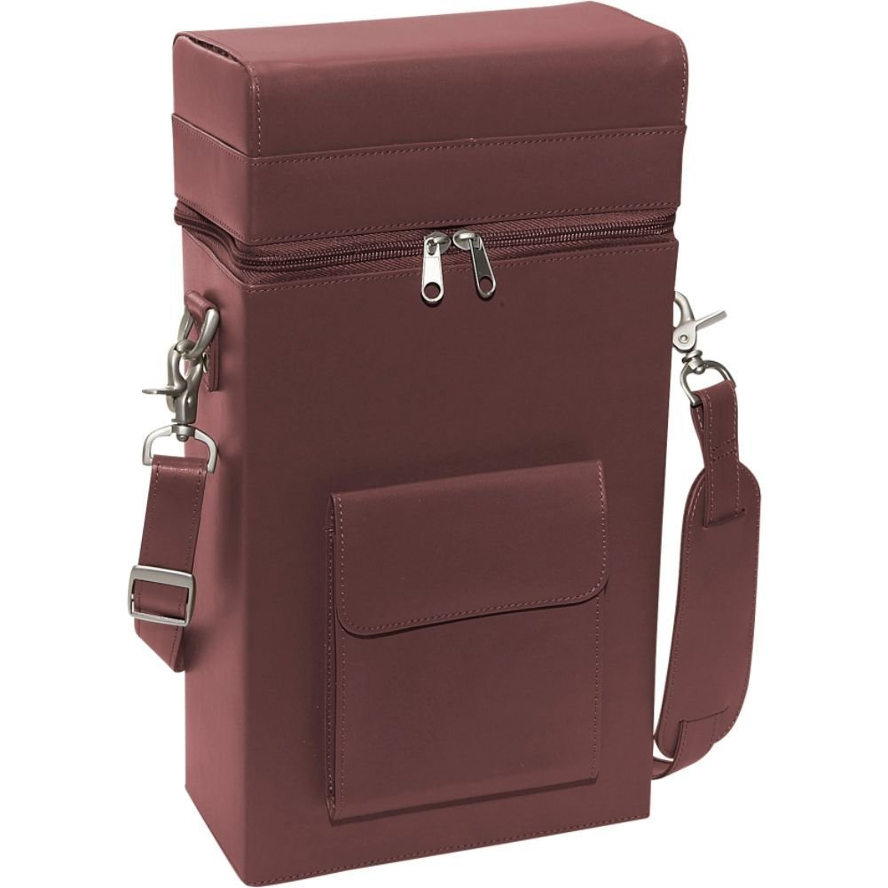 Royce Leather Connoisseur Wine Carrier - Burgundy