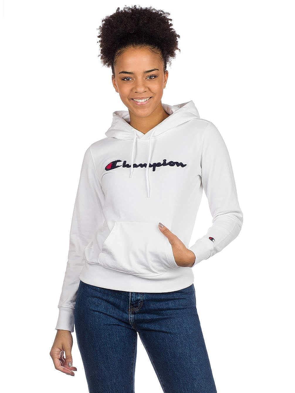 XlVêtements Champion Blanc Et Hoodie Femme 543jLAR