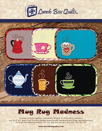(Lunch Box Quilts ECMRDD Mug Rug Madness pattern, Small, Beige)