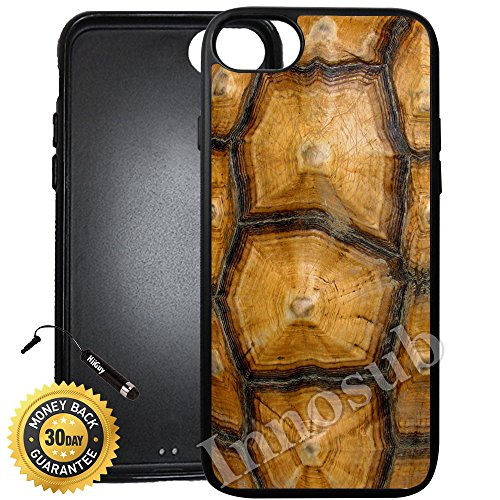 Custom iPhone 8 Plus Case (Tortoise Shell) Edge-to-Edge Rubber Black Cover with Shock and Scratch Protection | Lightweight, Ultra-Slim | Includes Stylus Pen by - Case Tortoise Iphone Shell