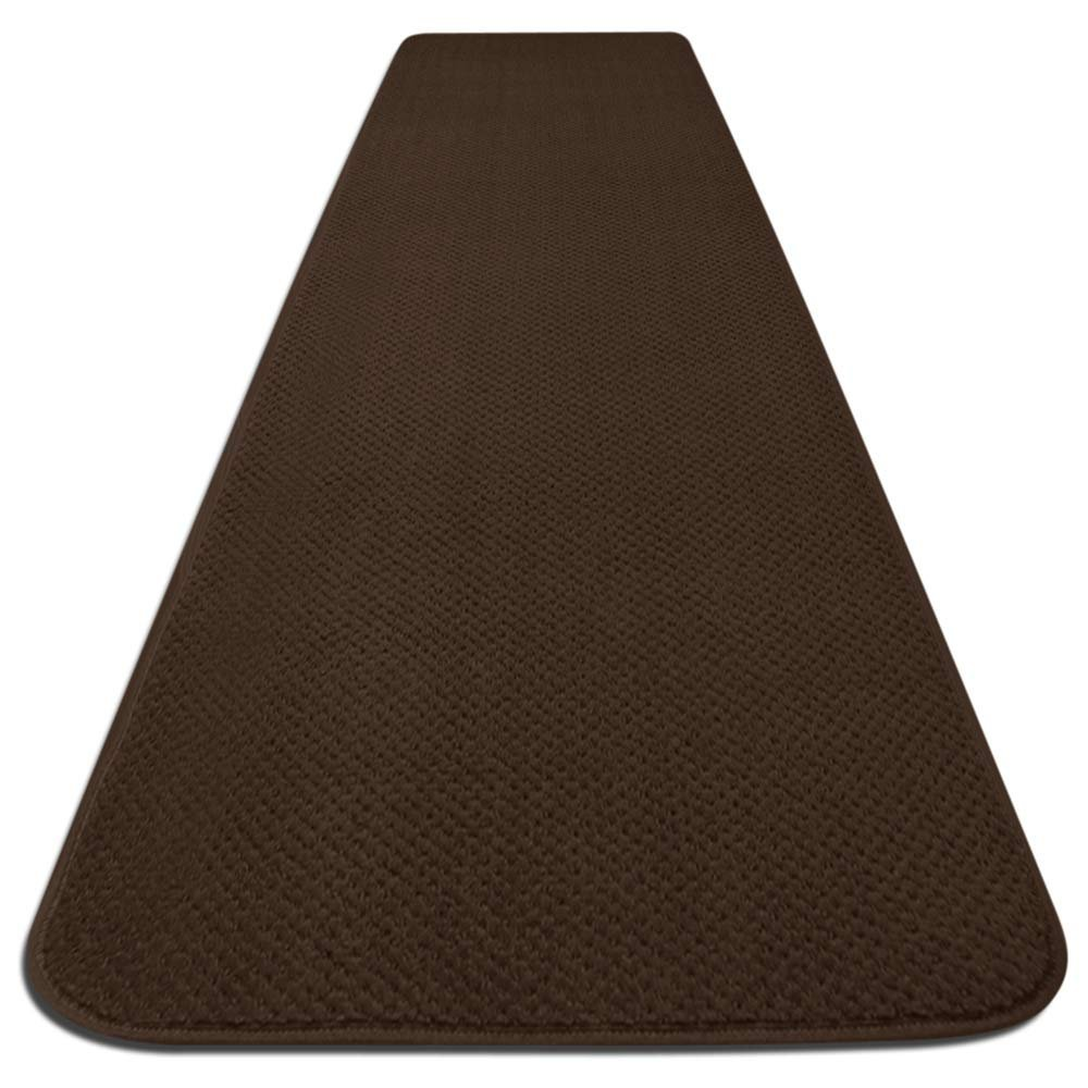 House, Home and More Skid-resistant Carpet Runner - Chocolate Brown - 4 Ft. X 27 In. - Many Other Sizes to Choose From by House, Home and More