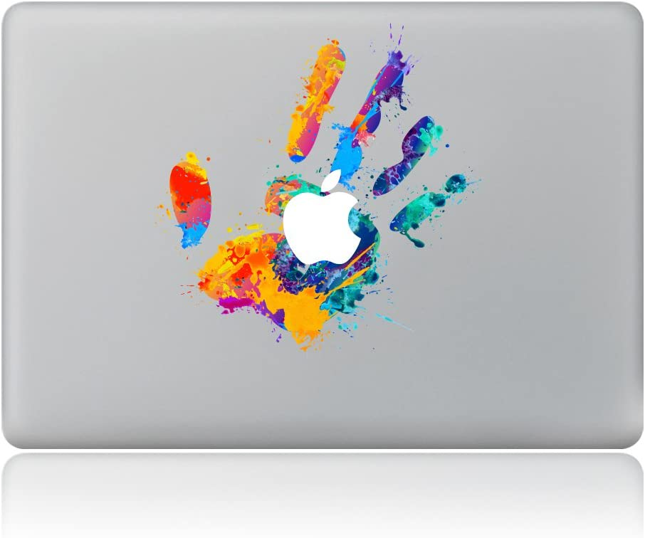 "Kiseki MacBook Sticker Color Handprint Laptop Notebook Decal Skins Stickers Fit for MacBook Air Pro Retina 13""/Hp/Lenovo/Dell/Compaq/Asus/Acer/Samsung/Surface Book(13"")"