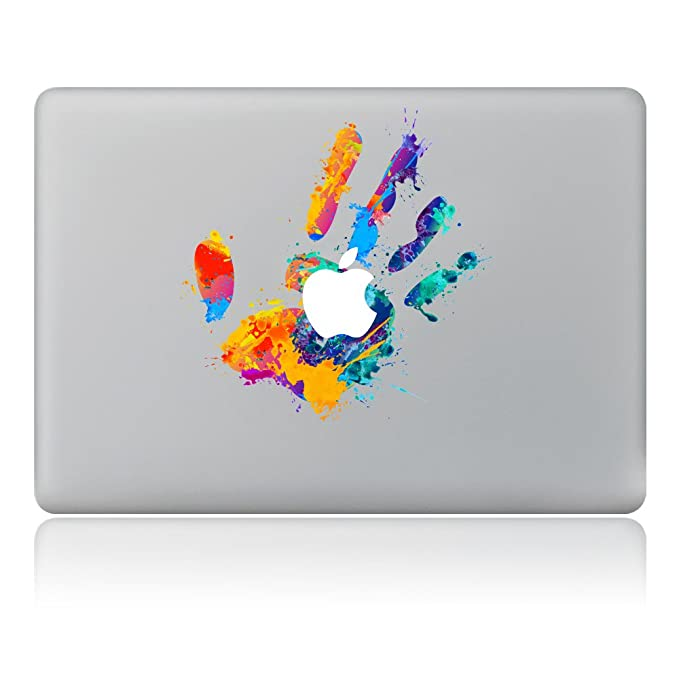 """Kiseki MacBook Sticker Color Handprint Laptop Notebook Decal Skins Stickers Fit for MacBook Air Pro Retina 13""""/Hp/Lenovo/Dell/Compaq/Asus/Acer/Samsung/Surface Book(13"""") best decorative laptop stickers"""