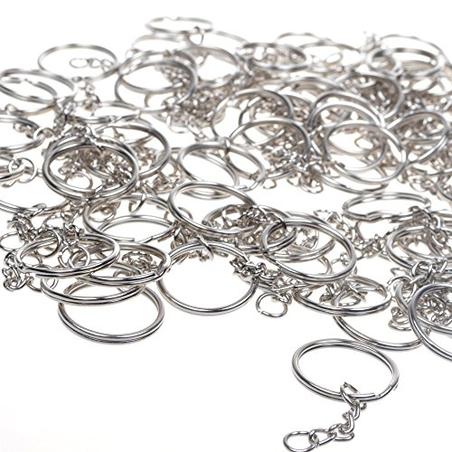 100pcs Silver Color Split Chain