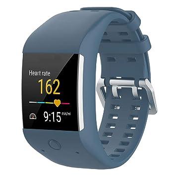 KOBWA - Correa de repuesto para relojes Polar M600, talla única, color azul claro: Amazon.es: Deportes y aire libre