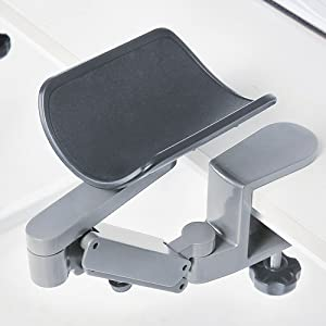 FUZADEL Arm Rests Ergonomic Arm Rest Rotating Computer Arm Rest Support Office Chair Arm Pads Hand Wrist Rest with Wrist Rest 360 Degrees rotatable