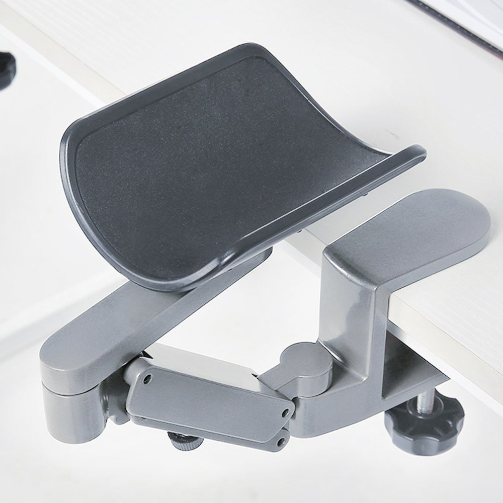 FUZADEL Arm Rests Ergonomic Arm Rest Rotating Computer Arm Rest Support Office Chair Arm Pads Hand Wrist Rest with Wrist Rest 360 Degrees rotatable by FUZADEL