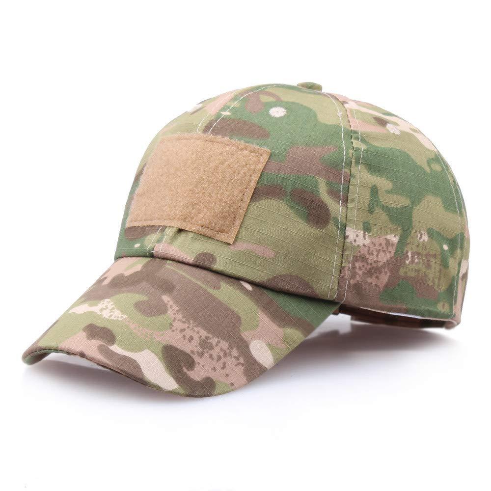 Sunyastor Summer Cap Camouflage Mesh Hats for Men Women Casual Hats Hip Hop High Bun Ponytail Adjustable Baseball Caps (A, One Size)