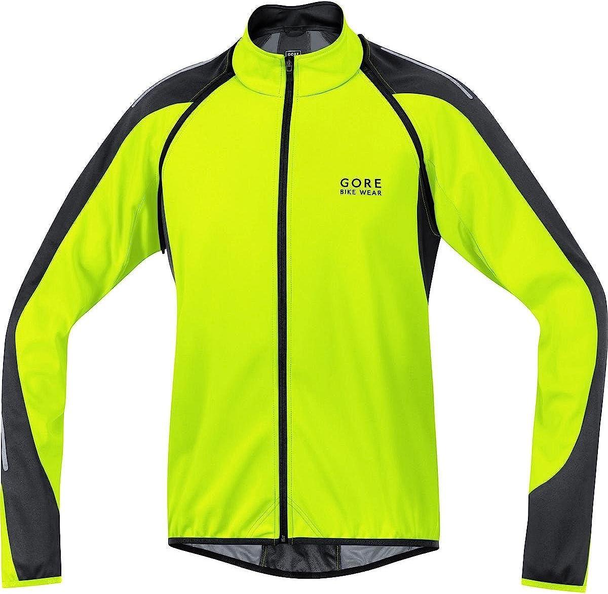 Gore  Bike Wear Phantom 2.0 Windstopper Soft Shell - Chaqueta 3 en 1 para Ciclista de Carretera, Hombre, Amarillo Neón/Negro, XL