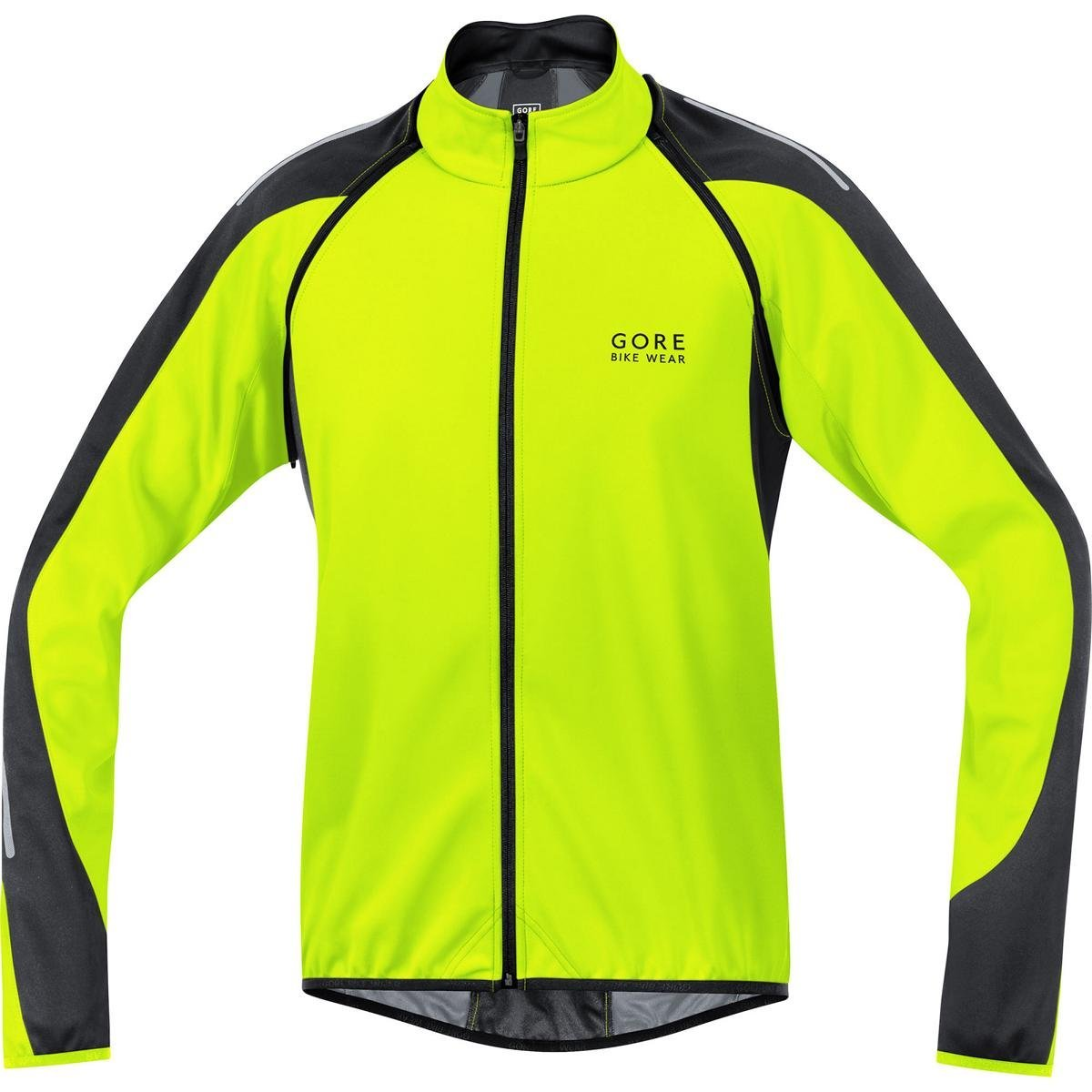 Gore  Bike Wear Phantom 2.0 Windstopper Soft Shell - Chaqueta 3 en 1 para Ciclista de Carretera, Hombre, Amarillo Neón/Negro, XL product image