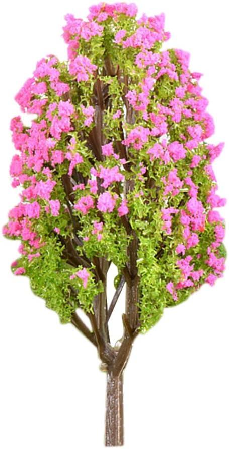 Vosarea Modelo en Miniatura Árboles Jardín de Hadas Paisaje Planta Lagerstroemia Árbol Modelo Tren Paisaje Jardín de DIY Ornamento de jardín (Pequeño): Amazon.es: Hogar
