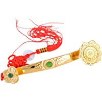 Feng Shui Golden Ruyi/Ru Yi Power Scepter + Free Red String Bracelet J1035