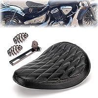 triclicks sillín Moto Vintage marrón para Bobber/Chopper/Sportster/Custom Muelles/Soporte