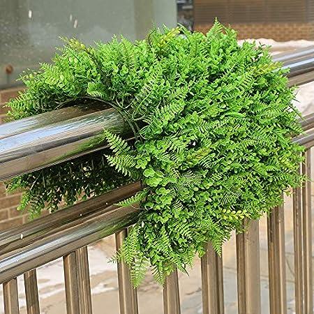 SZ Plancha Alfombra de Césped Artificial 60 * 40cm Jardín Vertical Decoración Interior Pared Hierba (EU Vivid): Amazon.es: Hogar