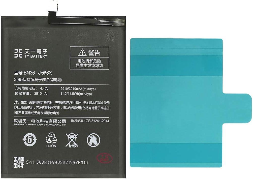 [TY BETTERY] Bateria Compatible con BN36 Xiaomi Mi A2 / Mi 6X