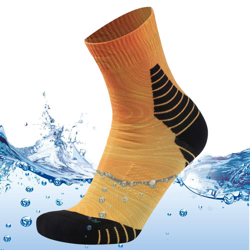 MEIKAN Men's Women's High Performance Waterproof Ankle Water Sports Gym Training Socks 1 Pair (Orange, Medium) by MEIKAN