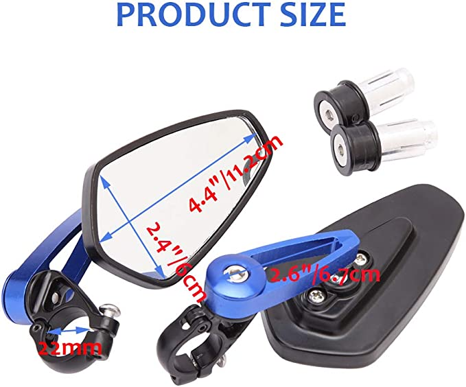 kimiss 2/* Universal Motorcycle Mirrors default blue