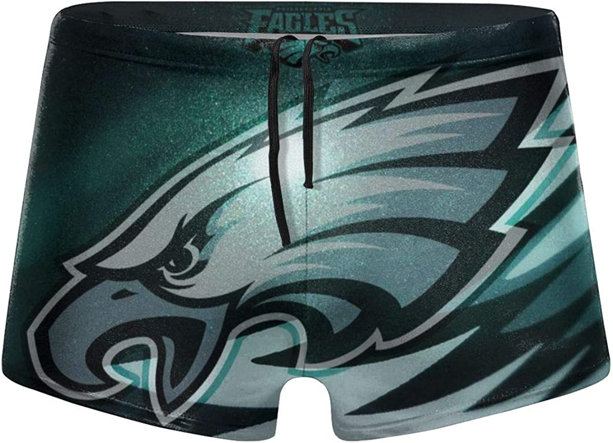 Cigarse Mens Philadelphia Eagles Customized Logo Graphic Swim Trunks Beach Party Game Gifts Sports Swimming Shorts