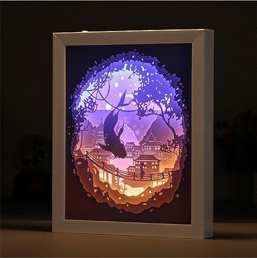 Lh&Fh Licht und Schatten Papier geschnitzte kreative 3D Papier ...