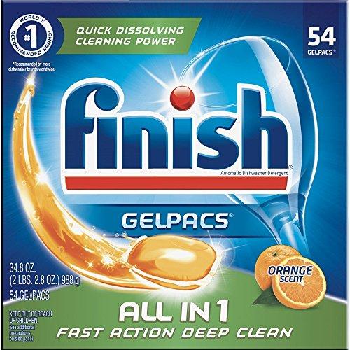 Finish All in 1 Gelpacs Orange, 54ct, Dishwasher Detergent T