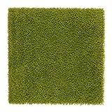 IKEA HAMPEN - Rug, high Pile, Bright Green - 80x80 cm