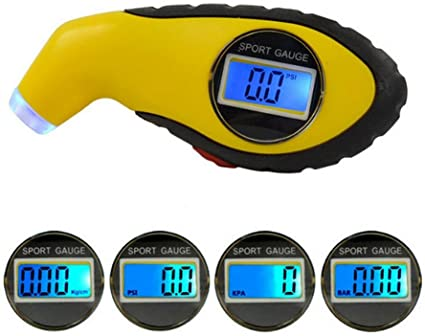 Leegoal Digital Medidor de presión de neumáticos, 150 PSI Mini ...