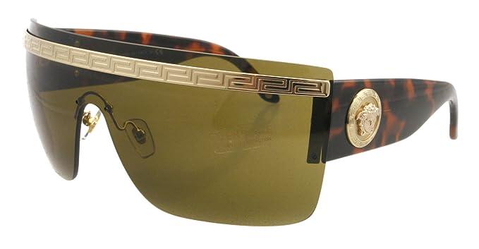 Amazon.com: Versace anteojos de sol VE 2130 Havana 1252/73 ...