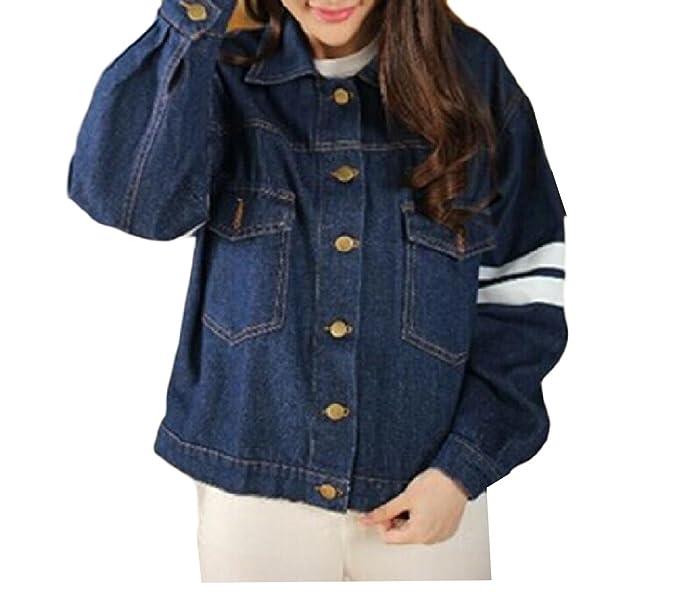 Winwinus Women s Cowboy Thicken Outwear Slim Fit Short Fleece Jacket ... ae1b415aca
