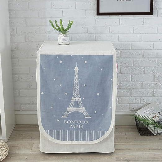GZxyj Funda Lavadora Impermeable Torre Eiffel Lino Lavadora Carga ...