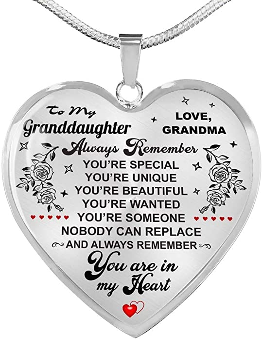 Forever Loved Granddaughter Necklace Granddaughter Gifts Gift for Granddaughter from Grandma-Grandpa Includes Gift Box! Luxury Necklace Gold On Birthday Anniversary