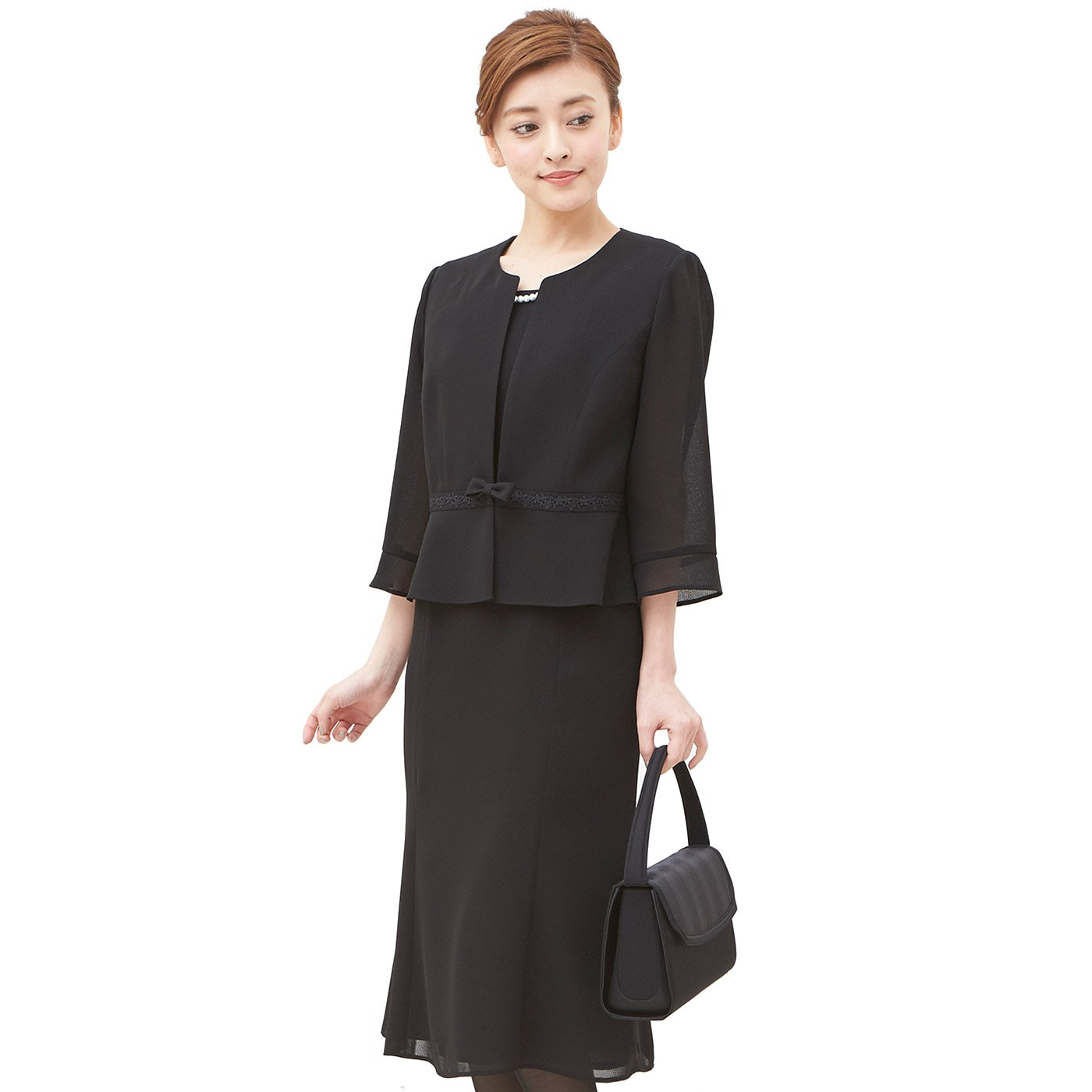SORITEAL Black Label Women's (Altamoda) Correspond To Washable Summer One Piece Looks Like Suit 13AR Black