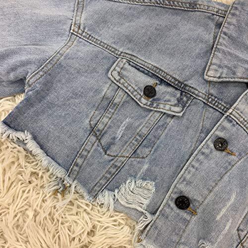 Jacket Cappotto Corto Coat Donna Azzurro E Giacca Jeans Casual Denim Giacche Autunno Outerwear Di Lunga Giubbotto Tops Oufour Cime Manica Primavera qHRfUfa