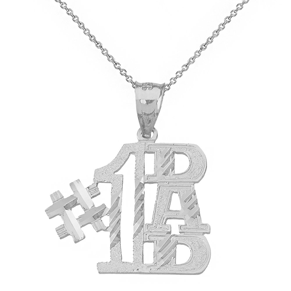 Charm #1 Dad Pendant Necklace (18'' Chain + Sterling-Silver)