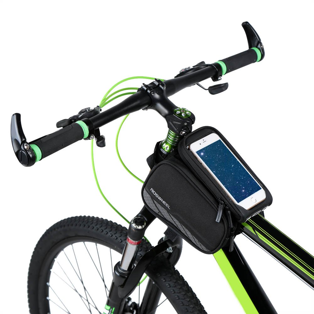 Bicycle BicycleStore 3 in 1 Design Waterproof Cycling Bike Front Bag Top Tube Frame Bag Pannier Double Pouch 5.7 inch Cellphone Phone
