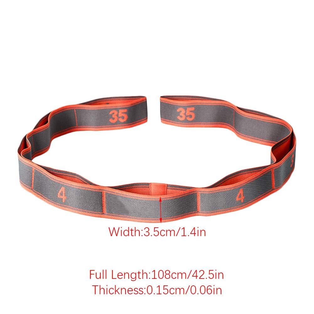 Wankd 9 Boucles Bande de R/ésistance /élastique Yoga Stretch Crossfit Pilates Danse Gymnastique Fitness Sangle dexercices