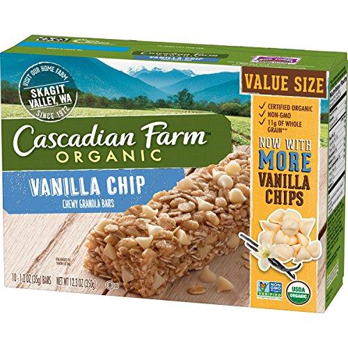 Cascadian Farm Organic Vanilla Chip Chewy Granola Bars, 10 ct, 12.3 oz -