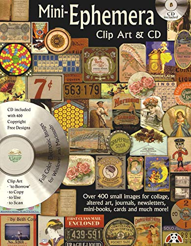 - Mini-Ephemera Clip Art & CD: Over 400 Small Images for Collage, Altered Art, Journals, Newsletters, Mini Boos, Cards and Much More
