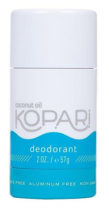 Kopari Aluminum-Free Deodorant | Non-Toxic, Paraben Free, Gluten Free & Cruelty Free Men's and Women's Deodorant | Made with Organic Coconut Oil | 2.0 oz Best Natural Deodorant