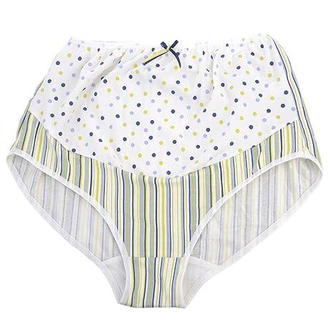 Impresión samber embarazo maternidad las mujeres embarazadas ropa interior bragas blanco blanco Talla:x-