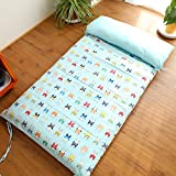 AMYDREAMSTORE Children Cotton nap mat Non-slip Bed mattress Topper Folding Single Thickening Kindergarten students Floor mats-C 67x120cm(26x47inch)