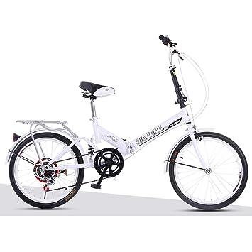 XQ XQ-TT-623 Bicicleta Plegable 20 Pulgadas 6 Velocidades Blanco