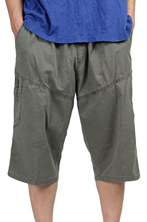 216ef907ec98 Heheja Herren Bermuda Cargo Shorts Männer Vintage Kurze Hosen 3 4 Lang Mit  Seitentaschen  Amazon.de  Bekleidung