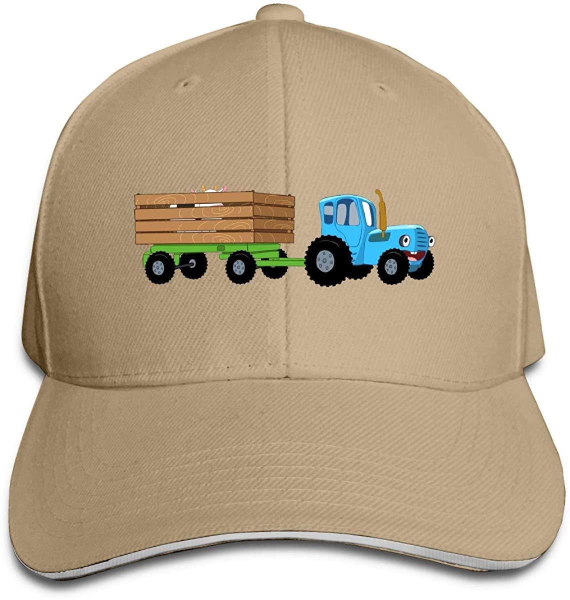 Gorras de lengua de pato unisex Tractor azul Sombrero de rapero ...