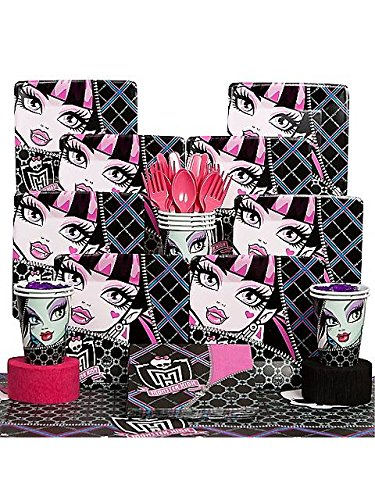 Draculaura Costume Pictures (Costume Supercenter BB101417 Monster High Party Deluxe Kit Serves 8 Guests)