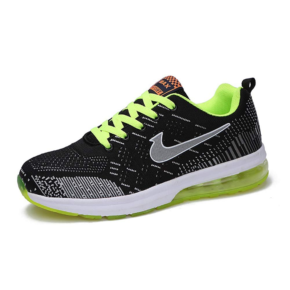 MhC Chaussures pour Hommes New Sneakers en Tricot Printemps Automne Chaussures Respirant Comfort Lightweight Athletic Sheos Baskets Casual Shoes Camping Park Gym (Couleur : B, Taille : 42)