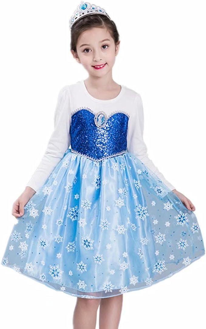 Amazon.com: Disfraz de princesa con lentejuelas para fiesta ...