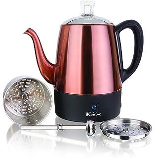 Amazon.com: Percolador de café eléctrico Mixpresso de acero ...